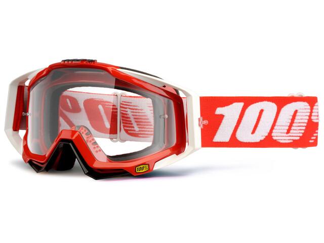 100% Racecraft Anti Fog Clear Goggles rød